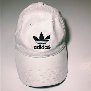 White and black classic adidas hat